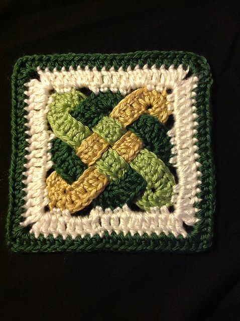 Free Celtic Knot Crochet Afghan Pattern : Ravelry: Project Gallery for Celtic Knot Squares pattern ...