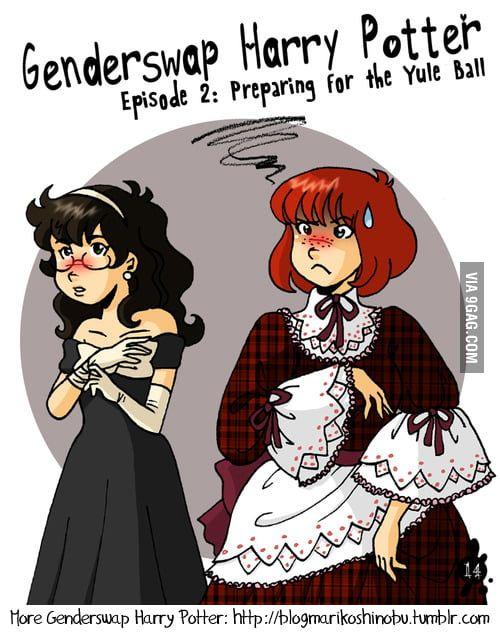 Genderswap Harry Potter Episode 2 Fem Ron S Not Happy Female Harry Potter Harry Potter Episodes Fem Harry Potter