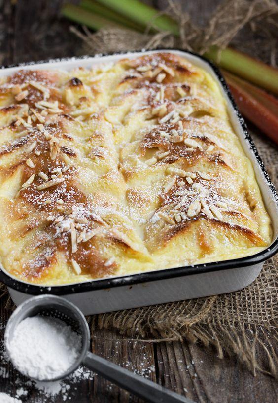 Resep Puding Roti : resep, puding, Resep, Puding, Tawar, Kukus, Resep,, Puding,, Rhubarb