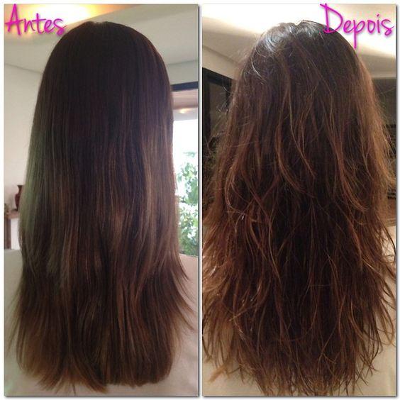 Meu cabelo antes e depois de usar o produto caseiro (Foto: QUEM Inspira)