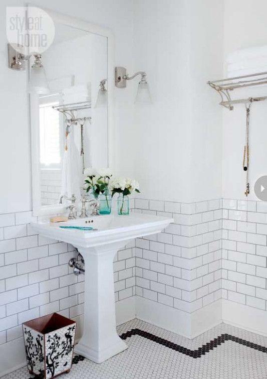 10 Vintage Tiles Bathroom Ideas Vintage Bathroom Tile Bathroom Tile Designs White Bathroom Tiles