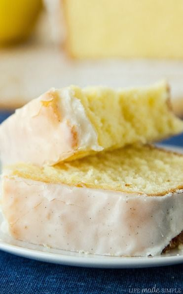 Lemon Pound Cake with Vanilla Bean Glaze Recipe | Life Made Simple