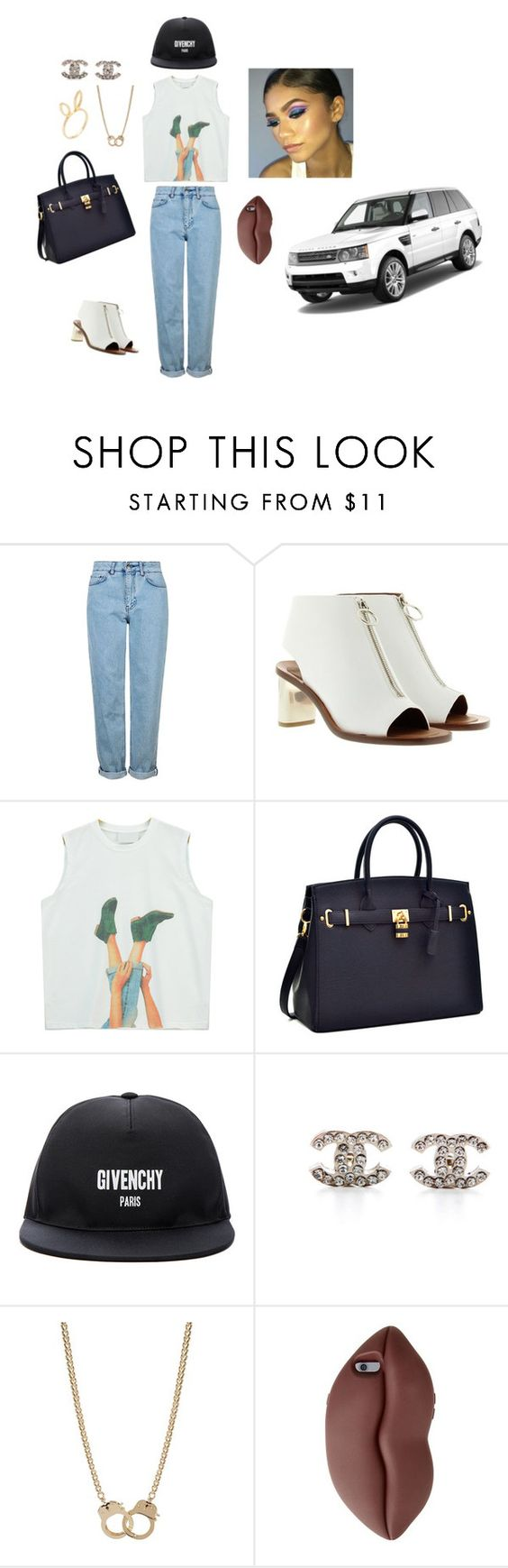 """""""dope  + cute"""" by mefo-2 ❤ liked on Polyvore featuring Topshop, CÉLINE, Chicnova Fashion, Givenchy, Chanel, Sugar NY, STELLA McCARTNEY and Jacquie Aiche"""