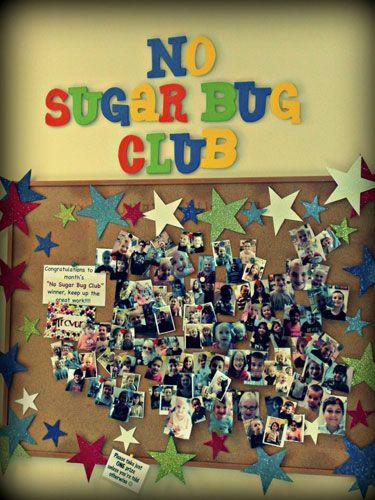 No Sugar Bug Club Dental Office Bulletin Board Ideas