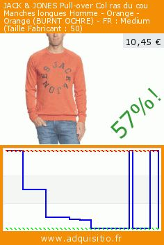 JACK & JONES Pull-over Col ras du cou Manches longues Homme - Orange - Orange (BURNT OCHRE) - FR : Medium (Taille Fabricant : 50) (Vêtements). Réduction de 57%! Prix actuel 10,45 €, l'ancien prix était de 24,47 €. http://www.adquisitio.fr/jack-jones/pull-over-col-ras-du-cou-118