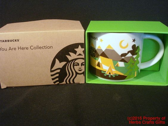 Colorado Mug Starbucks You Are Here Coffee Cup 16 oz New Box YAH Original 10/4/16 #Starbucks #YouAreHere  #Colorado  #AMugAday