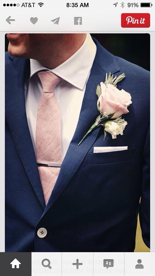 Wauw! Prachtige lente-kleuren voor de bruidegom.