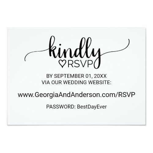Simple Black Calligraphy Wedding Website Rsvp Card Zazzle Com Wedding Website Rsvp Wedding Website Heart Wedding Invitations