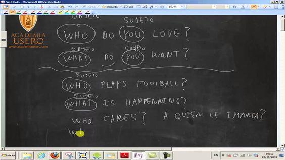 Preguntas con sujeto y objeto WHO y WHAT UD01 Inglés 4º ESO Academia Usero