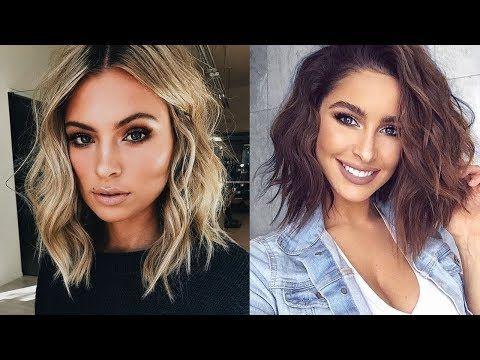 Simple Ways To Style Medium Length Hair Diy Hairdos Youtube Waves Hair Tutorial Medium Length Hair Styles Hair Lengths