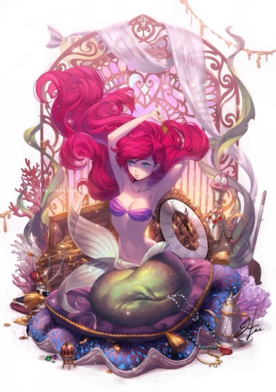 Ariel and her treasures: