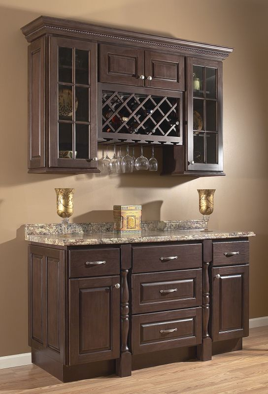 Upper Kitchen Cabinets With Glass Doors And Wine Rack