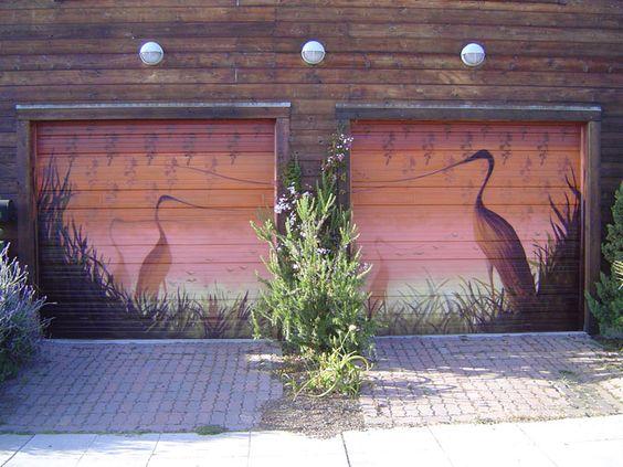 Best ideas about garage murals garage art and 2 garage on for Painted garage doors pictures