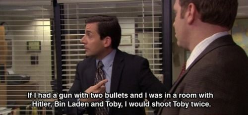 More Office quotes, because they're awesome.: Poor Toby, Favorite Quote, Scott Quote, The Office, Funny Stuff, Office Quote, Tv Movie, Michael Scott
