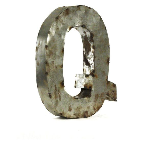 Letter Q Metal Wall Art - Small - 14W x 18H in. - LETTER Q SMALL