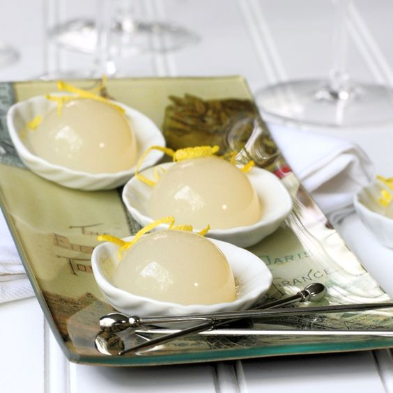 End of Summer Jelly Shots - French 75
