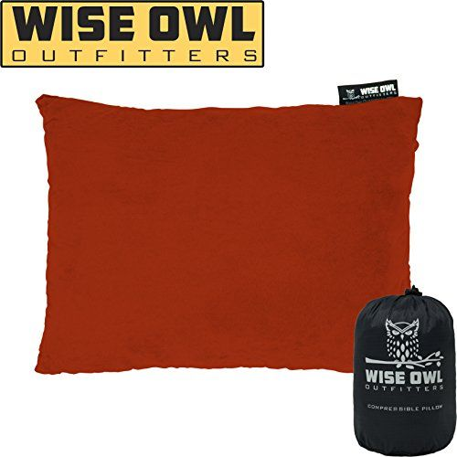 Wise Owl Outfitters Camping Pillow Compressible Foam Pillows Use When Sleeping In Car Plane Travel Hammock Bed Camping Pillows Foam Pillows Sleep In Car