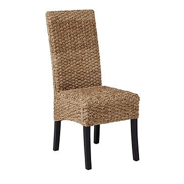 The natural woven fibers in our Hyacinth Chair create a casual cool dining area. $119.00