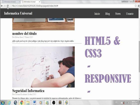 HTML5 & CSS3 - 8 - Como hacer una pagina web responsive  - Diseño respon...