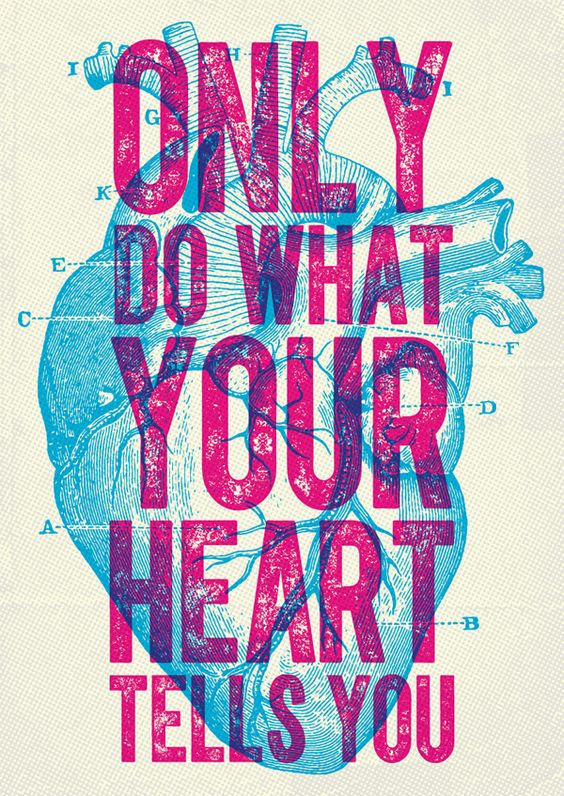 Only do what your heart tells you. Overprint poster design - interesting discussion about when and why you would want to choose Overprint over a Multiply layer