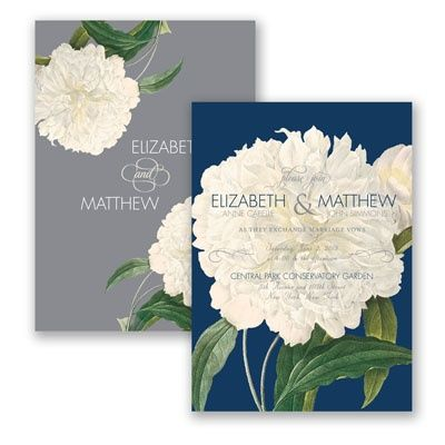 Radiant Peonies - Wedding Invitation - Floral, Nature, Spring, Summer at Invitations By David's Bridal 3