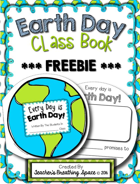 Earth Day Class Book FREEBIE! This little Earth-shaped class book is a fun way to get your students writing about ways to take care of our precious Earth!: