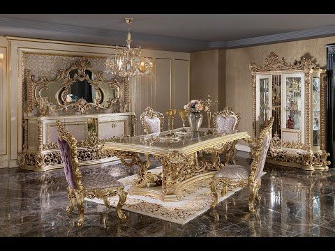 Luxury Dining Room 2 Youtube Classic Dining Room Furniture Classic Dining Room Luxury Home Furniture