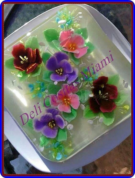 Deliciosa y bella gelatina 3D