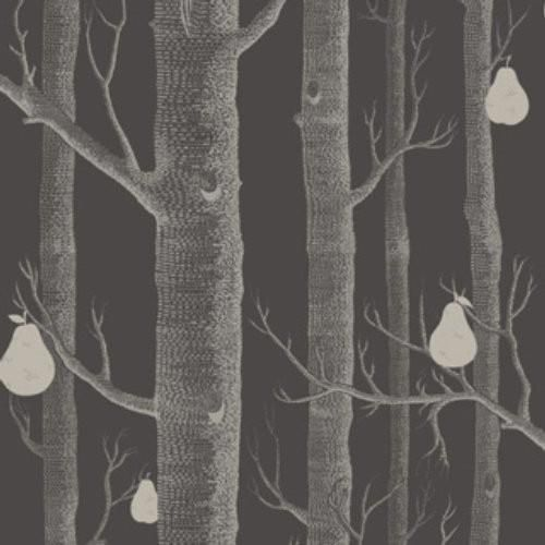 Cole Son Woods Pears Gilver Black Wallpaper In 2021 Cole And Son Wallpaper Cole And Son Wood Wallpaper