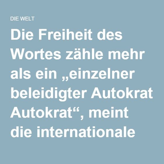 """Die Freiheit des Wortes zähle mehr als ein """"einzelner beleidigter Autokrat"""", meint die internationale Presse. Merkel müsse Rückgrat zeigen, doch Erdogans Druck werde im Fall Böhmermann zum Problem. < flip 20160414,1525 do"""