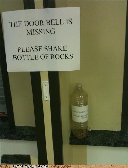 Please shake bottle of rocks lol