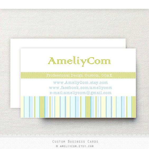 Custom Personal Business Cards Business card template by AmeliyCom, $7.00