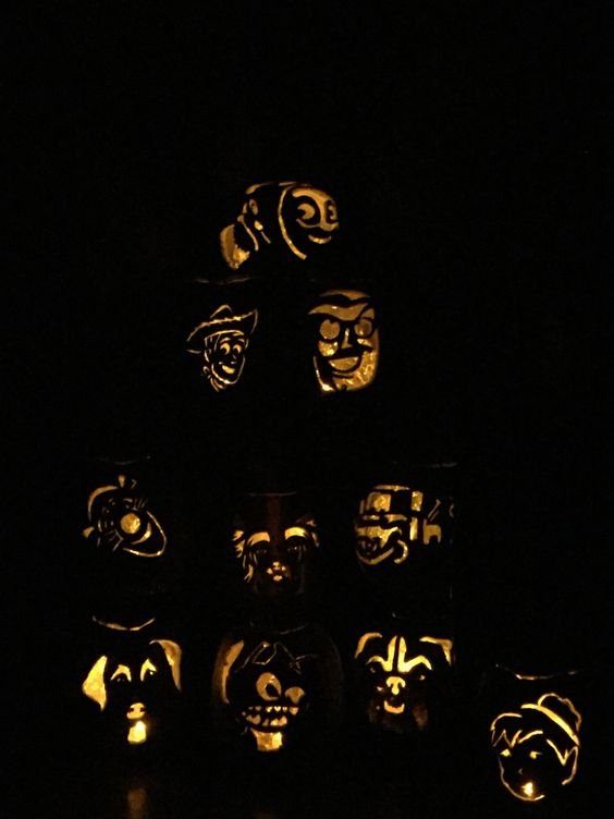 Foam pumpkin carvings! Now I can keep them instead of them rotting away!