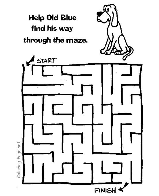 Number Names Worksheets simple maze for kids : Kid, Maze and Puzzles on Pinterest