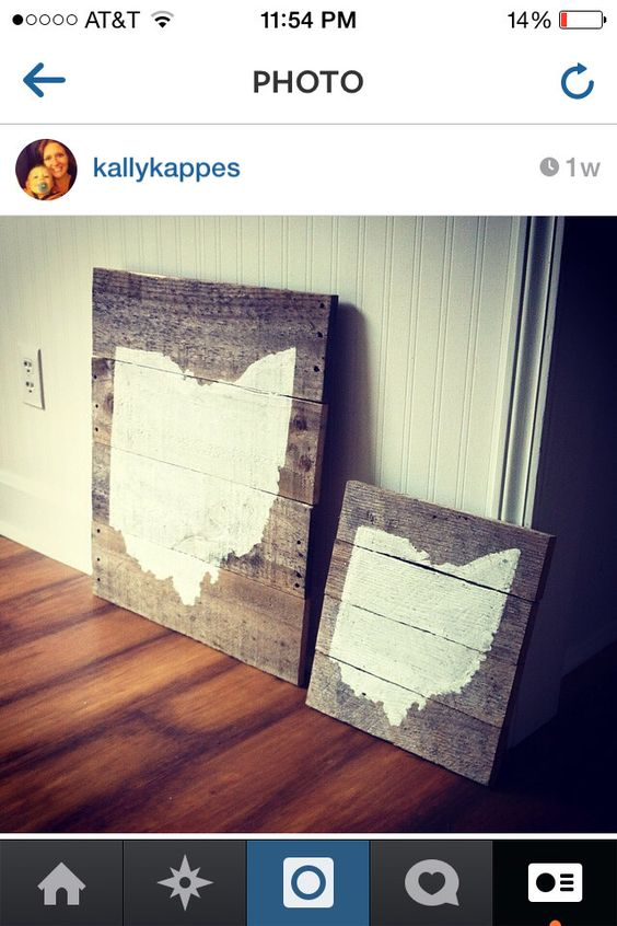 Large Reclaimed Wood, OHIO state map, pallet wood OHIO map by  LifeontheHomestead on Etsy - Large Reclaimed Wood, OHIO State Map, Pallet Wood OHIO Map By