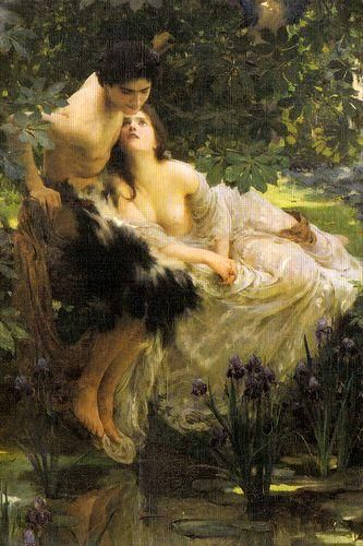 Narcissus and Echo by Solomon Joseph Solomon: