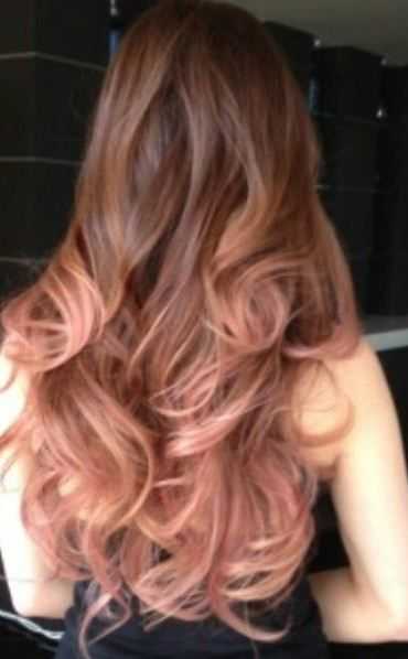 Brown hair, Rose gold ombre and Roses on Pinterest