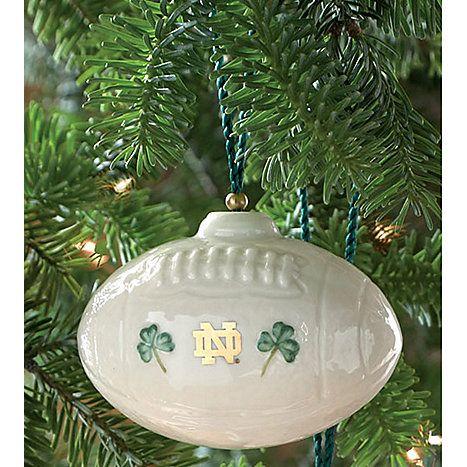 Notre Dame Football Ornament--traditional Christmas ornament | Crazy ...