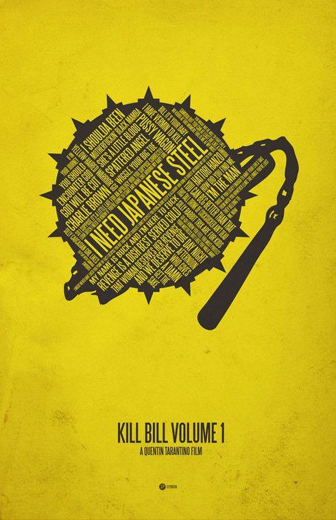 kill bill1 70 Powerful Examples of Minimal Movie Poster Designs