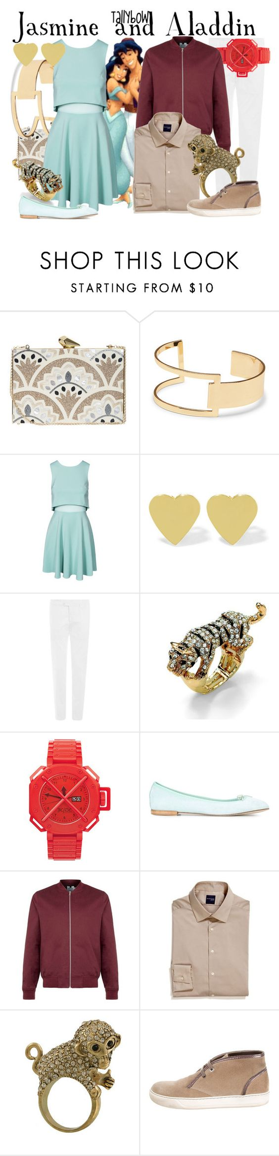 """""""Jasmine and Aladdin"""" by tallybow ❤ liked on Polyvore featuring KOTUR, Sole Society, John Zack, Jennifer Meyer Jewelry, Etro, Palm Beach Jewelry, Repetto, Topman, Madison and Miso"""