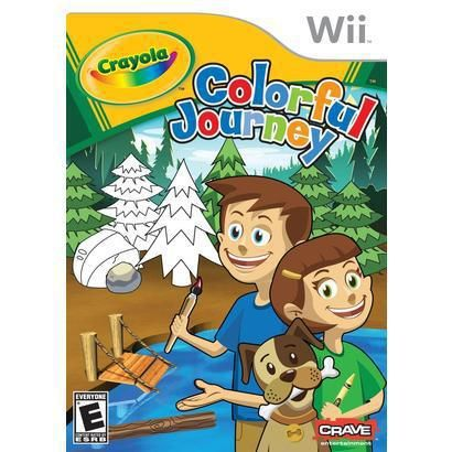 Crayola Colorful Journey (Nintendo Wii)     Crayola Colorful Journey is an action / platform puzzle game set in a 3D world for the Nintendo® Wii™ that encourages imagination and creativity in puzzle solving using diverse and flexible game mechanics. With several possible solutions to level puzzles, the player is challenged to find their solution.    Maybe. . .for when kids visit?