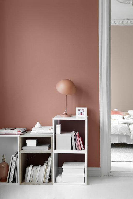 Inspiration rose pêche rose saumon Pink wall paints, Pink walls - schöner wohnen farben wohnzimmer
