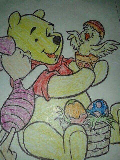 Ursinho Pooh ! Adorei pintar