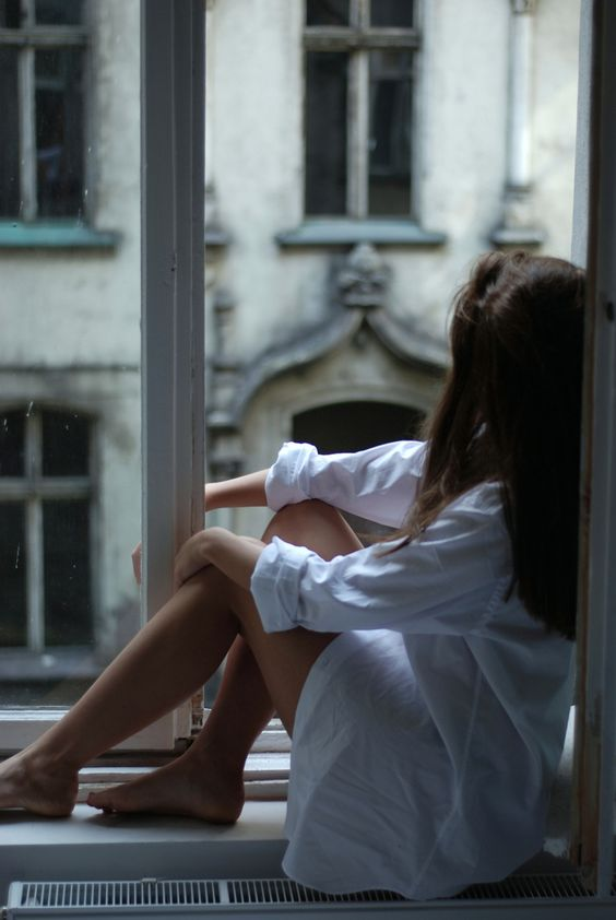 reflecting in a room with a view : morning white shirt <3
