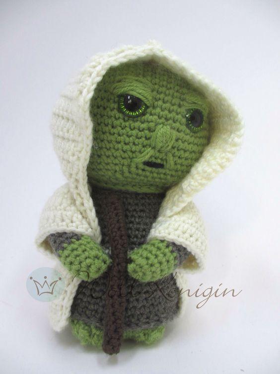 Meister Yoda gehäkelt