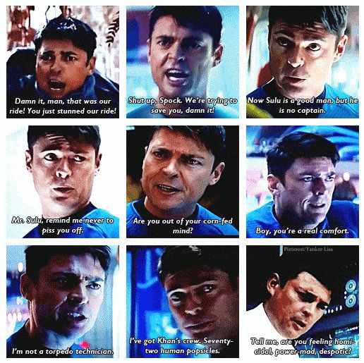 Spot on portrayal by Karl Urban. DeForest Kelly would be proud.