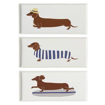 Darling dachshund plates
