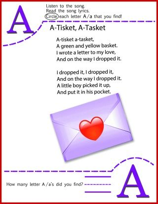Circle The Letter A worksheet | Nursery Rhymes and Songs ...