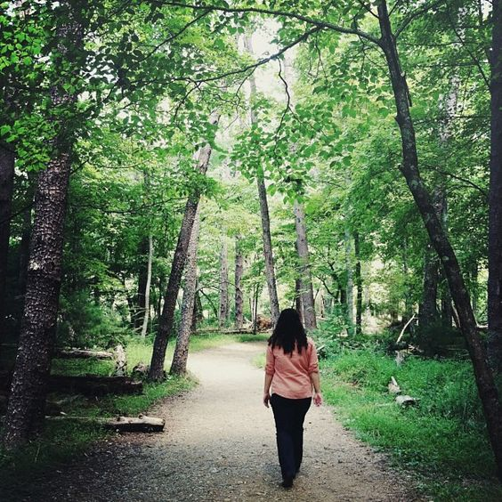 Me wandering through the forest.