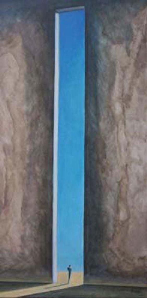 en el limite del tiempo. oleo s/tela 120 cm. x 60 cm. 2007